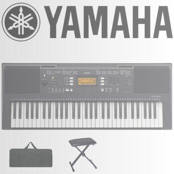 【YAMAHA 山葉】標準61鍵盤進階款機種含琴椅、琴袋-公司貨保固 (PSR-E343)