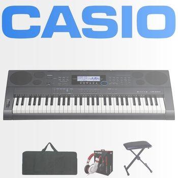 【CASIO 卡西歐】高階款61鍵可攜式電子琴含琴袋、琴椅、耳機-公司貨保固 (CTK-6200)