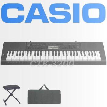 【CASIO 卡西歐】61鍵標準型電子琴入門首選含琴袋、琴椅-公司貨保固 (CTK-3200)