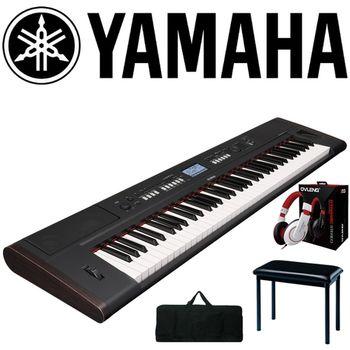 【YAMAHA 山葉】76鍵可攜式電子琴含琴袋、琴椅、耳機-公司貨保固 (NP-V80)