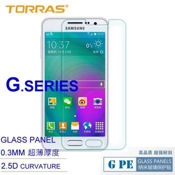 【TORRAS圖拉斯】Samsung GALAXY A3 防爆鋼化玻璃貼 G PE 系列 9H硬度 超薄日本AGC玻璃 2.5D導角 加送面條線