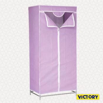 【VICTORY】70x45x155cm彩豔防塵衣櫥(99C80W)