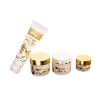 [Abeeco艾碧可]完美蜂魔肌組合包-4種組合-面膜、精華霜、眼霜、修復霜