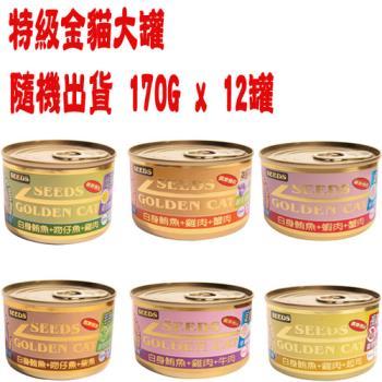 【SEEDS】聖萊西 特級金貓大罐-口味隨機出貨 170G x 12入