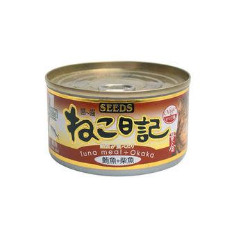 【SEEDS】聖萊西 喵喵日記-鮪魚+柴魚口味 170G x 48罐