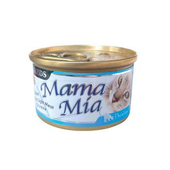 【SEEDS】聖萊西 MAMAMIA貓餐罐-雞肉+鮪魚+吻仔魚 85G x 24入