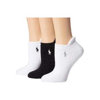 【Ralph Lauren】2015女馬球腳踝運動黑白短襪混搭3入組(預購)