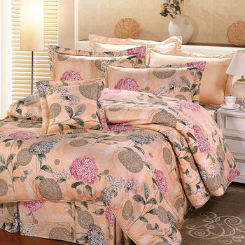 【Novaya諾曼亞】《洛莉琺》絲光棉雙人三件式床包組