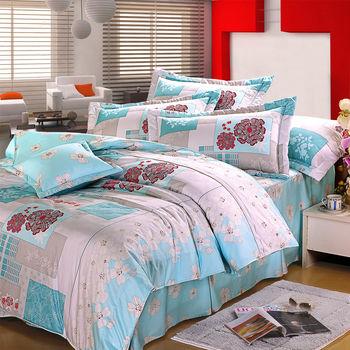 【Novaya諾曼亞】《芬柯園》絲光棉雙人三件式床包組