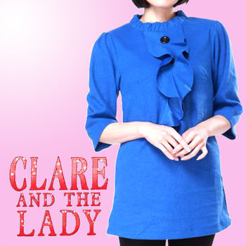 CLARE韓版立裁時尚OL羊絨感上衣洋裝組3入