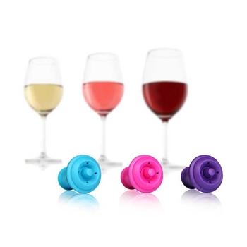 【Vacu Vin】葡萄酒保鮮瓶塞三入組 / 酒器週邊