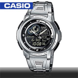【CASIO 卡西歐】日系-多功能溫度雙顯錶(AQF-102WD)