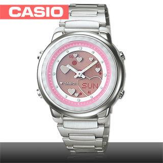 【CASIO 卡西歐】日系-可愛動畫雙顯女錶(LAW-25D)