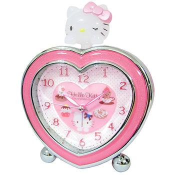 【Hello Kitty】心心相印 超靜音貪睡鬧鐘 (JM-E540-KT)