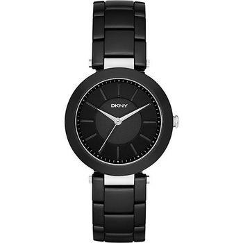 DKNY Stanhope 名模風采陶瓷時尚腕錶-黑 NY2292