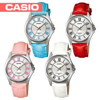 【CASIO 卡西歐】時尚婉約皮錶帶淑女錶(LTP-1383L)