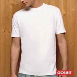 【西班牙OCEAN】(5906)男性時尚短袖T-shirt_ L (=M 加大)深藍