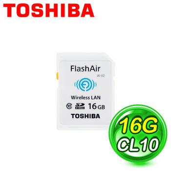 Toshiba東芝 16G FlashAir SDHC (C10) 記憶卡 公司貨