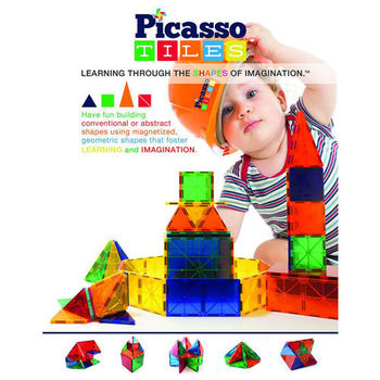 【Picasso Tiles】3D立體磁力建構片 100 PCS