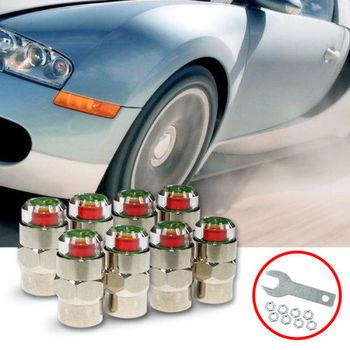 【KIPOINT】胎壓偵測氣嘴蓋-48psi-(8顆入) 買就送扳手*2及防盜螺帽*8 TPMS 氣嘴蓋 胎壓表 胎壓計 胎壓錶