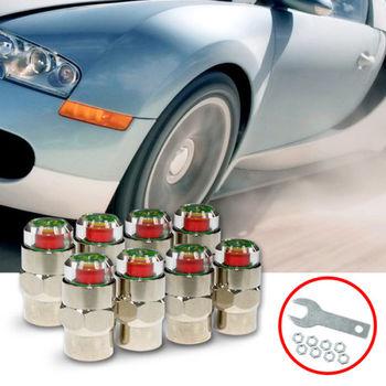 【KIPOINT】胎壓偵測氣嘴蓋-30psi-(8顆入) 買就送扳手*2及防盜螺帽*8 TPMS 氣嘴蓋 胎壓表 胎壓計 胎壓錶