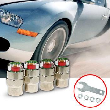 【KIPOINT】胎壓偵測氣嘴蓋-55psi-(4顆入) 買就送扳手*1及防盜螺帽*4 TPMS 氣嘴蓋 胎壓表 胎壓計 胎壓錶