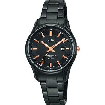 ALBA LOVE戀的妳時尚限量女錶-IP黑 VJ22-X191K(AH7E87X1)