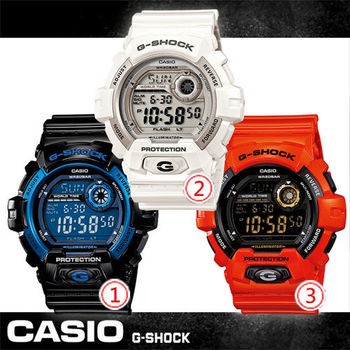 【CASIO 卡西歐 G-SHOCK 系列】多層次液晶個性休閒運動錶(G-8900A)