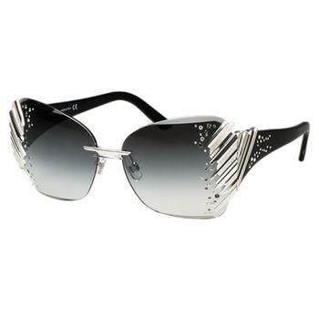SWAROVSKI-限量豪華 太陽眼鏡 (銀色) 豪華全球限量款