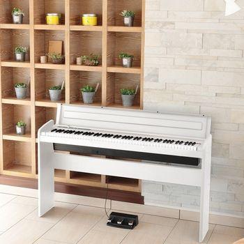 【KORG】時尚外觀設計標準88鍵數位鋼琴/電鋼琴-白色-公司貨保固(LP-180)