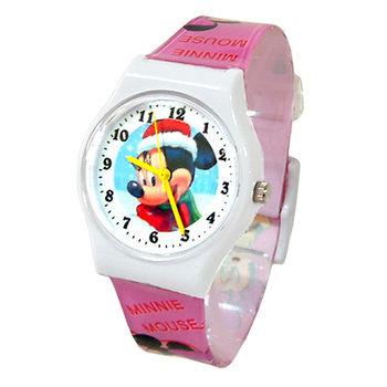 【迪士尼】歡樂聖誕俏麗米妮兒童錶(D4223)
