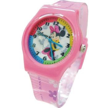 【迪士尼】米妮微笑漾粉兒童錶(D4192)