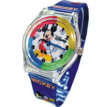 【迪士尼】米奇微笑漾藍兒童錶(D4191)
