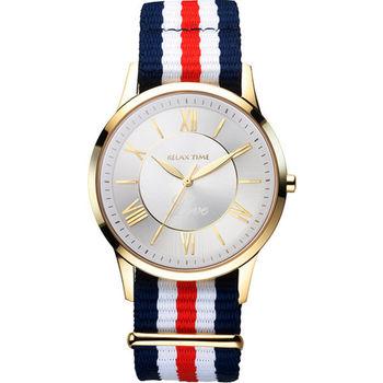 Relax Time Love 限量經典學院風格腕錶-金x紅 RT-58-3M