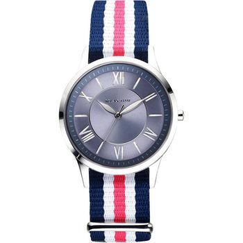 Relax Time 經典學院風格腕錶-藍x粉 RT-58-2L