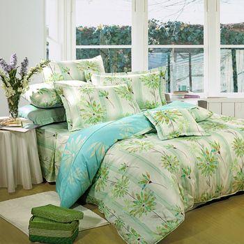 【Novaya諾曼亞】《晴冉子》絲光棉加大雙人七件式鋪棉床罩組