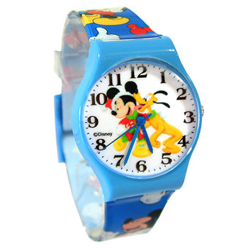 【迪士尼】快樂聖誕米奇兒童休閒錶(DK41436)
