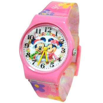 【迪士尼】甜蜜聖誕兒童休閒童錶(DK41373)