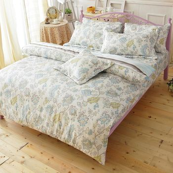 【Novaya諾曼亞】《伊都苑》絲光棉加大雙人三件式床包組