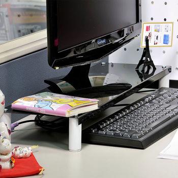 【ikloo宜酷屋】省空間桌上螢幕架/鍵盤架1入(尊爵黑)