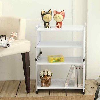 【ikloo宜酷屋】貴族風可延伸式組合書櫃/書架二層-現代白