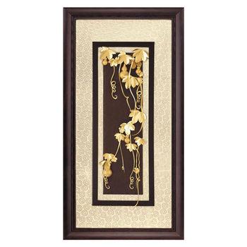 【鹿港窯】立體金箔畫-五福臨門(高昇系列42x81cm)