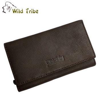【Wild Tribe】雙包 真皮中夾皮夾(MW161咖啡)