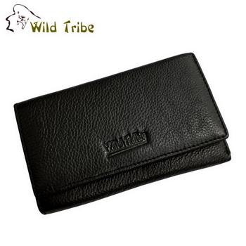 【Wild Tribe】雙包 真皮中夾皮夾(MW161黑)