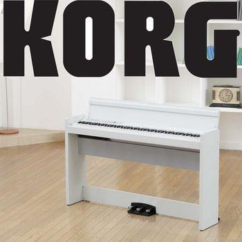 【KORG】日本原裝進口標準88鍵數位鋼琴/電鋼琴-白色-公司貨保固 (LP-380WH)