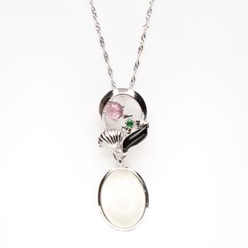 【寶石方塊】心肝寶貝天然月光石項鍊