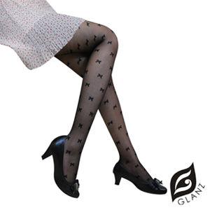 【GLANZ 格藍絲】日系甜美辛辣造型顯瘦透膚襪x2件組(甜美蝴蝶結)