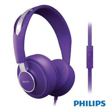 【PHILIPS】城市系列DOWNTOWN頭戴耳機SHL5605紫