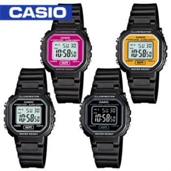 【CASIO 卡西歐】超人氣復古造型學生電子錶(LA-20WH)