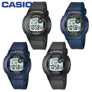 【CASIO 卡西歐】日系-多功能學生型指定錶款(F-200W)